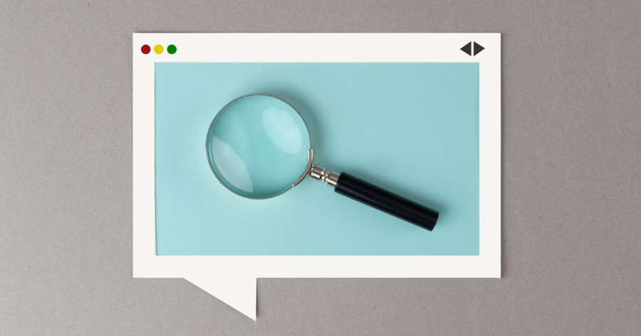 A magnifying glass highlighting what will change with the Google Panda update.